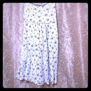 Small flowery tank miracle of denim